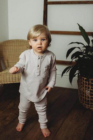 Boys Organic Essentials Loungewear set - Grey