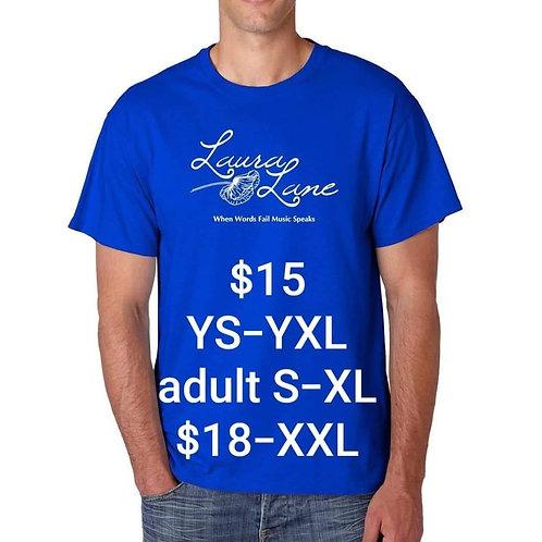 """Laura Lane """"Music Speaks"""" Blue Tee"""