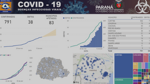 Ferramenta monitora o coronavírus no Paraná