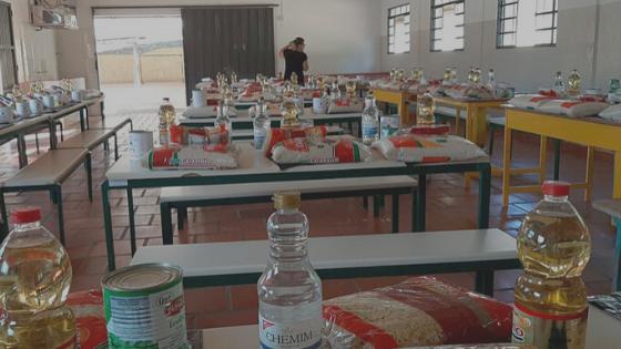 Escolas se preparam para nova entrega de alimentos