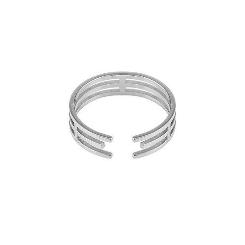 Pierścionek Lineae I srebrny
