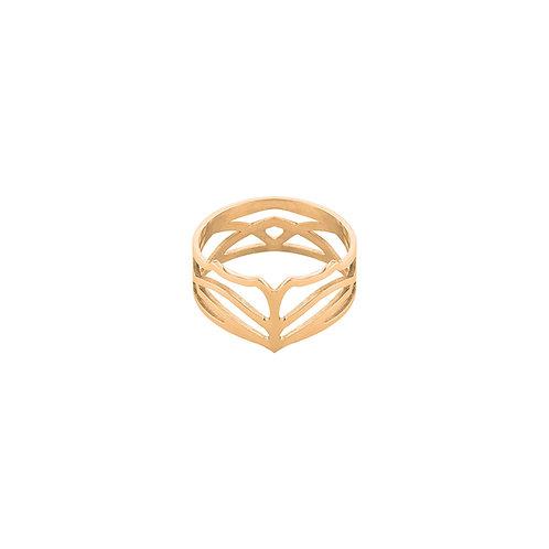 Pierścionek Farrea I złocone srebro 925