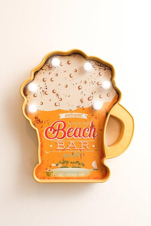 Placas Led plástico bar/cerveza