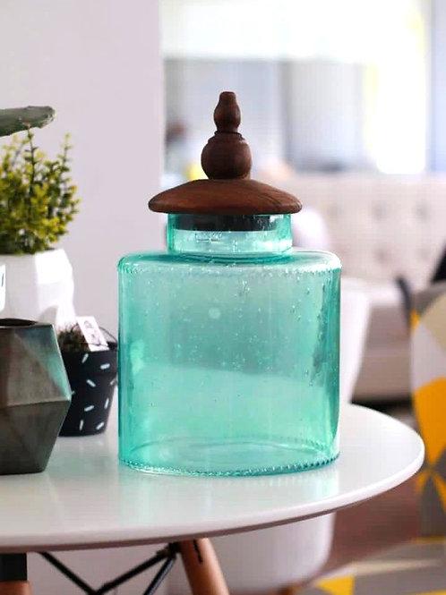 frasco turquesa