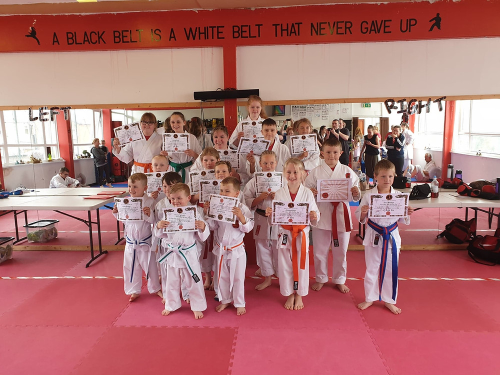 GRADE DAY SUNDAY 21ST JULY  What an absolutely fabulous grade, some awesome work done by all. Many thanks from myself, the students & the parents to the Instructor Team for all your help & support.  Massive Congratulations to  Grade with Honors - Thomas Duckworth  Nidan Assessment- Wesley Fielding  1st kyu -Isobell Shaw  2nd kyu -Taylor Richardson  4th kyu - Arron Clarke, Thomas Duckworth,  Gracie Pennington, Edit Anger  4th kyu ho =Ruby Miller, Alex Bentham  6th kyu -Winter Wood  7th kyu -Joanne Smith, Freya Jones, Niamh Molloy  PeeWee Warriors  Kuro -Kyle Hunter  Ao -Noah Newton  Midon - Franklin Farrelly, Harry Blundell, Zac Freel  Orenji - Riley Trelfore