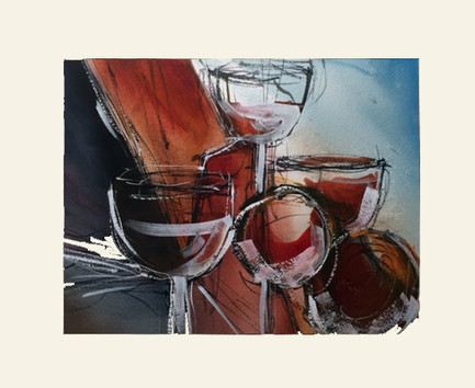 Wine Glasses in Abstraction.