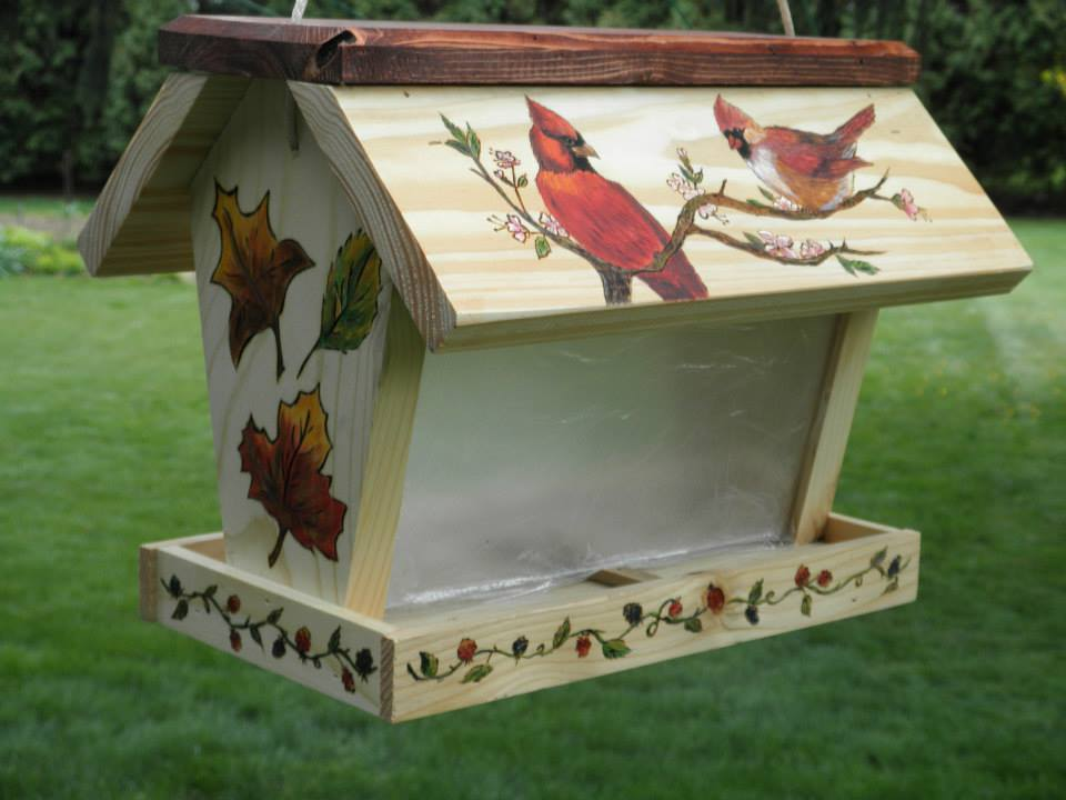 Handpainted Bird Feeder