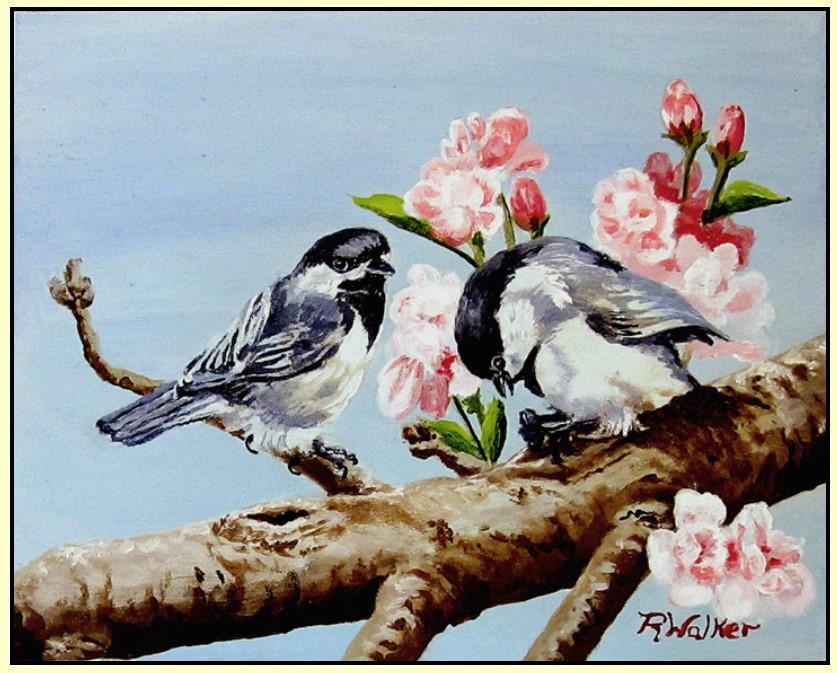 Chickadee Pair