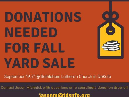 Fall Yard Sale - September 19-21