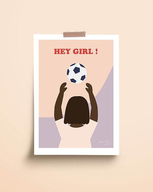 "Affiche ""Hey girl"""
