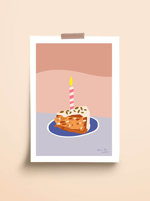 "CARTE POSTALE "" HAPPY BIRTHDAY"""