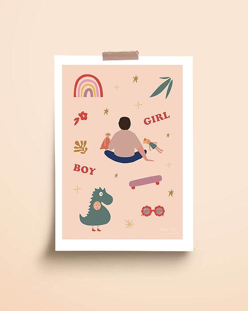 """Affiche """"Boy & Girl"""""""