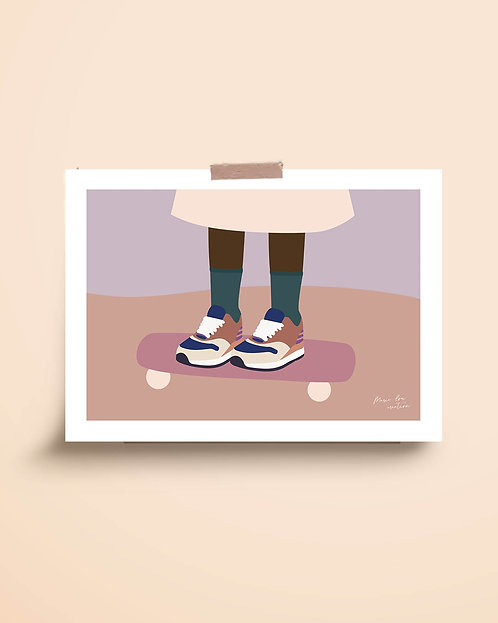 """Affiche """"Skate girl"""""""
