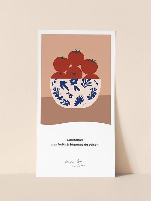 CALENDRIER DES FRUITS & LEGUMES DE SAISON
