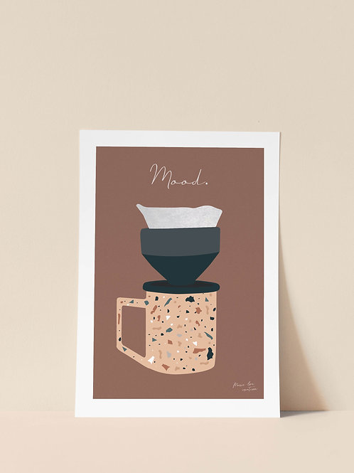 "AFFICHE ""MOOD COFFEE"""