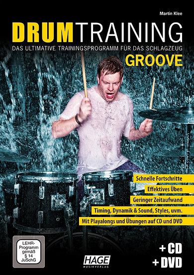 Lehrbuch: Drum Training Groove (mit CD und DVD)