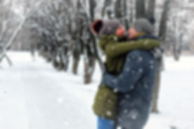 couple lovers kiss winter street.jpg