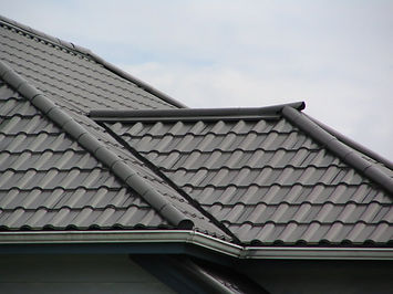 black metal tile roof