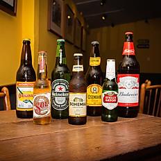 Budweiser, Brahma, Brahma 0%, Bohemia, Eiseibahn, Heineken, Salva, Sol Premium e Stella Artois.