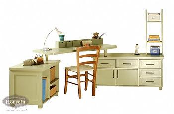 שולחן כתיבה פינתי מעץ מלא - האוס אין