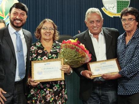 Câmara de Vereadores: Vereador Luiz da Saúde homenageia empresários.