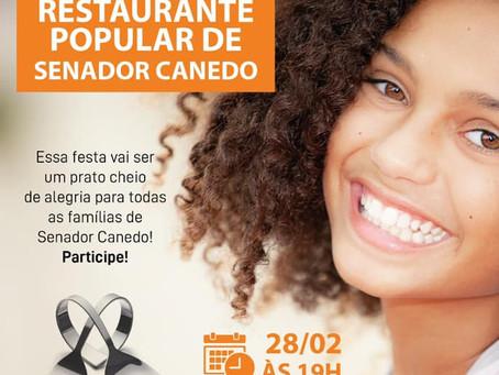 Senador Canedo [Convite]: Inauguração do Restaurante Popular de Senador Canedo.