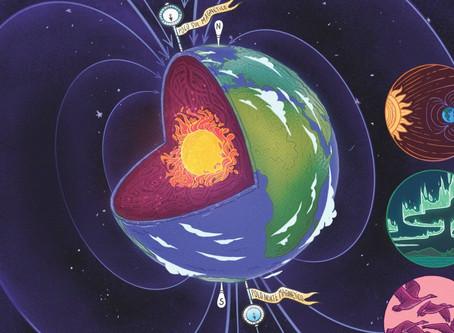 O que é o campo magnético da Terra? O que ele influencia?