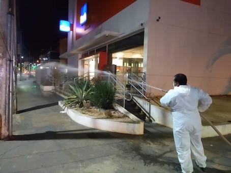Sanitização noturna no combate ao Coronavírus