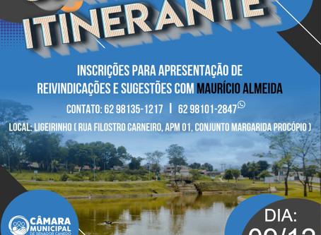 Câmara de Vereadores promove o Projeto Câmara Itinerante na Vila Galvão em 9/12. Participe!