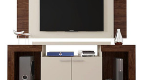 Rack com Painel para TV, até 55 polegadas, 2 Portas, Premium Elegance