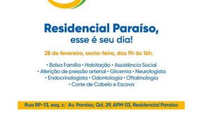 Senador Canedo [Social]: Residencial Paraíso recebe o Cidadania nos Bairros.
