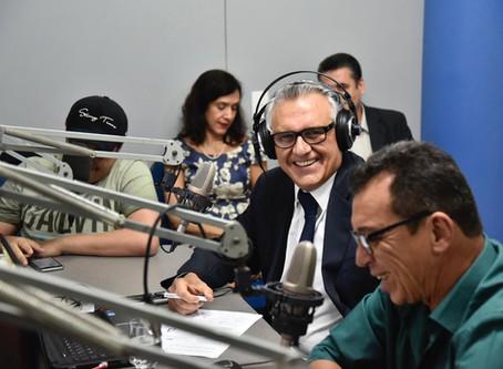 Caiado anuncia que plano Nacional de Segurança Pública será lançado em Goiás.
