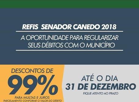 Senador Canedo: Refis.