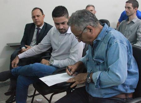 Solenidade reúne autoridades para a abertura da campanha do Maio Amarelo em Senador Canedo.