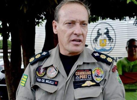 Tenente-coronel Belelli é preso em operação da PF que investiga grupos de extermínio em Goiás.