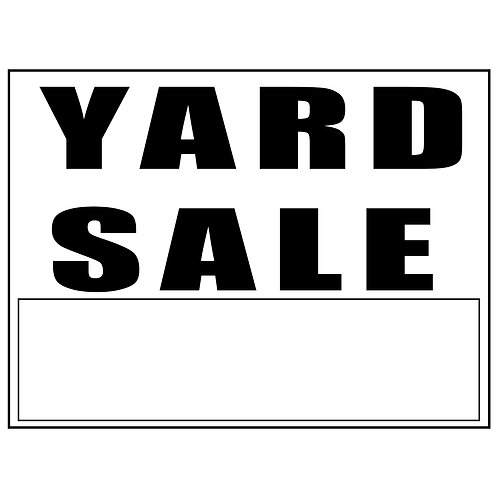 10 Yard Sign with Step Stakes