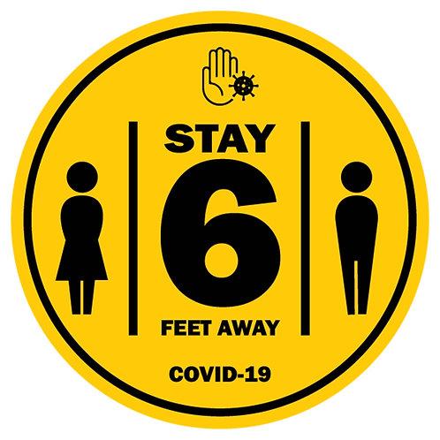 Caution 6' Away Covid-19