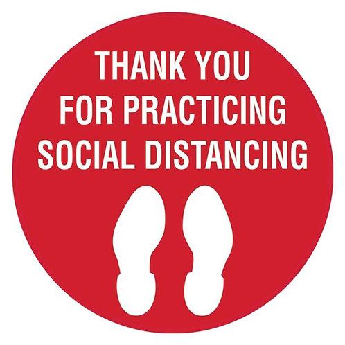 """Social Distancing Floor Signs 10""""x10"""""""