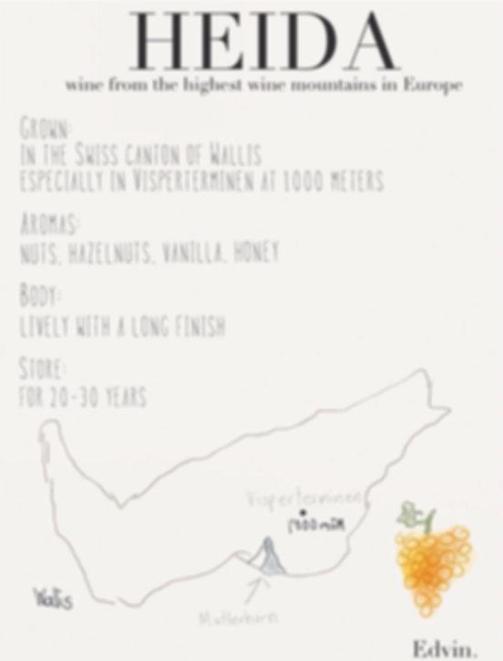 Heida Wine Map