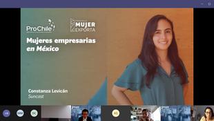 Constanza Levicán, CEO de Suncast, ingresó  al programa Mujeres Empresarias de ProChile México