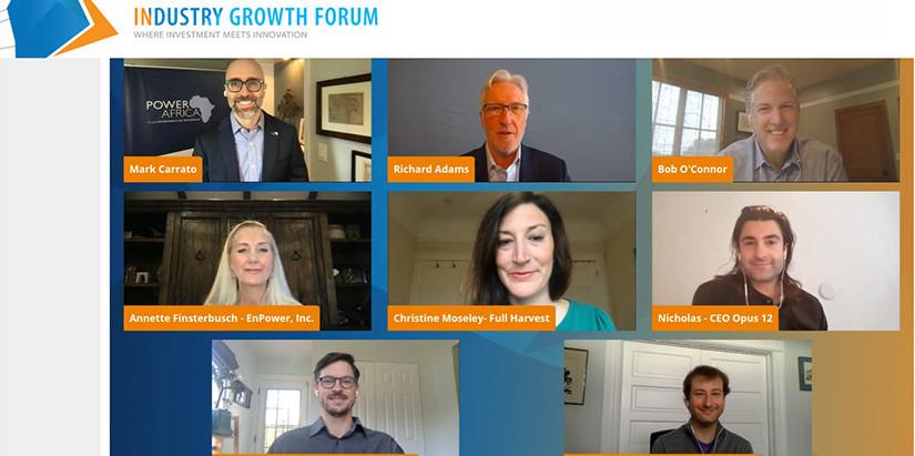 Suncast celebró 10 reuniones con Fondos de Inversiones en el Industry Growth Forum NREL 2021 de USA