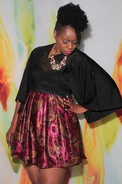 Butterfly Sleeve Dress