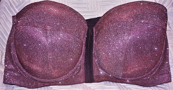 Glitter Red Stretch (Bra Only)