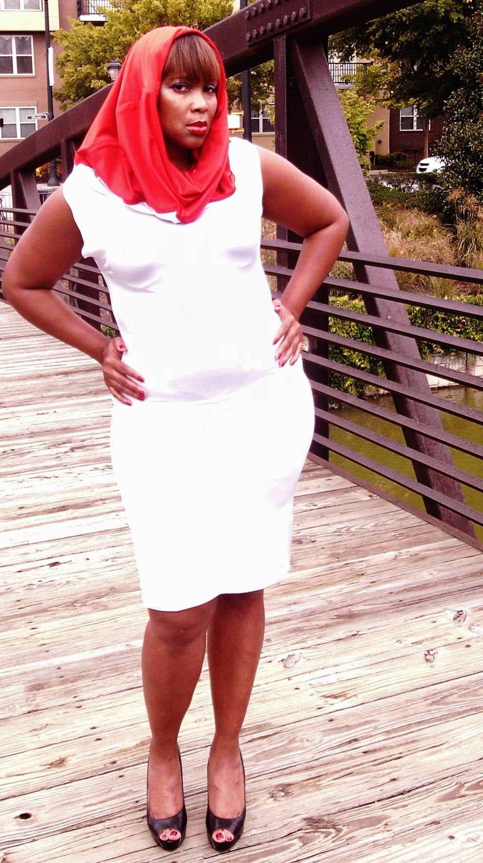Maxi Tube dress as a scarfed dress