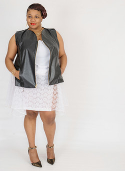 Leather and Laces Jacket and Skirt