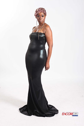 Stretch Jersey Tube Gown