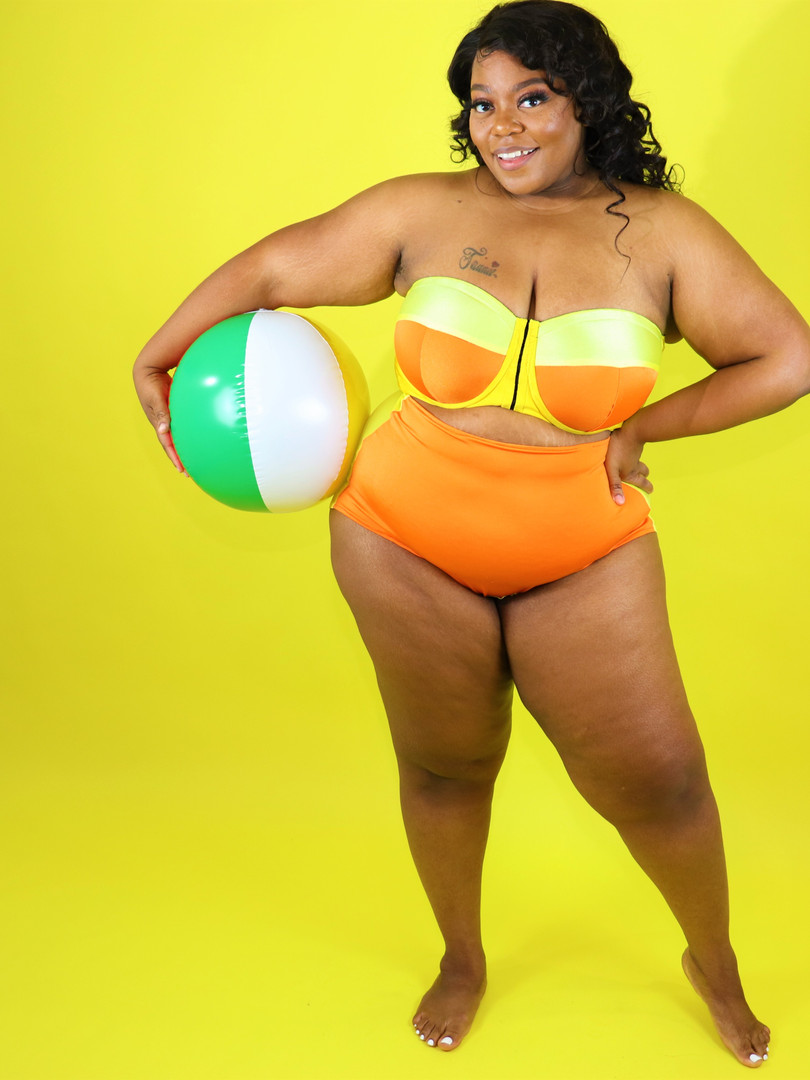 Yellow n Orange Full Coverage Wideback