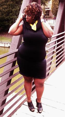 Black and Yellow Maxi Tube dress