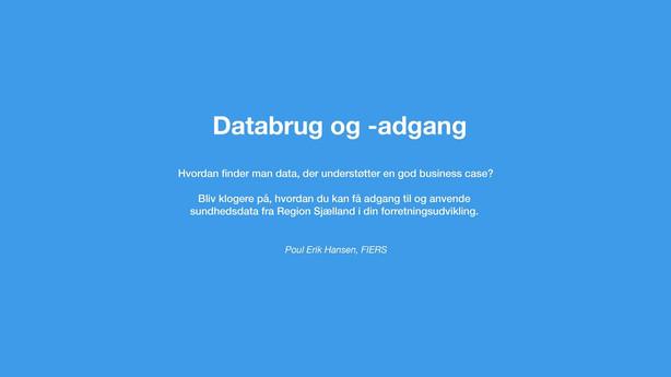 Databrug & -adgang