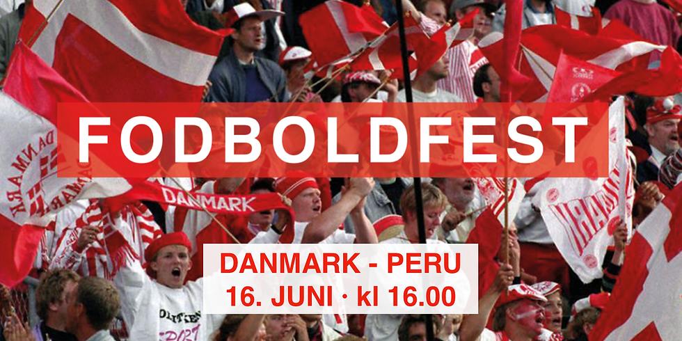 FODBOLDFEST · Danmark - Peru